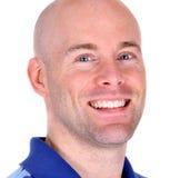 Feche acima do retrato de um homem considerável feliz Fotografia de Stock Royalty Free