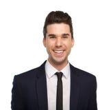Feche acima do retrato de um homem de negócio novo de sorriso Imagem de Stock Royalty Free