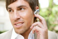 Homem de negócios com grupo da orelha. Imagens de Stock