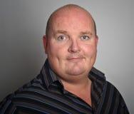 Feche acima do retrato do macho do negócio na camisa Imagens de Stock Royalty Free
