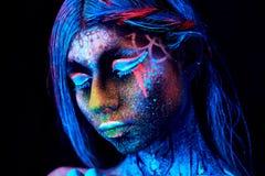 Feche acima do retrato UV imagem de stock