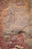 Feche acima do Sandstone vermelho em Taj Mahal, India imagem de stock