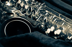 Feche acima do saxofone Fotos de Stock