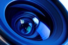 Feche acima do sistema ótico da lente Fotos de Stock