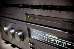 Feche acima do sistema de som Imagem de Stock Royalty Free