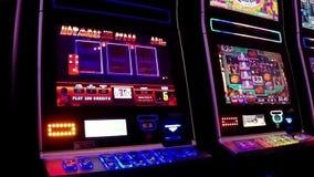 Feche acima do slot machine filme