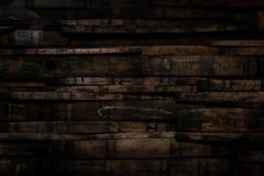 Feche acima do tambor Stave Wall With Vignette de Bourbon imagem de stock