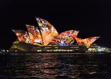 Feche acima do teatro da ópera de Sydney Foto de Stock Royalty Free