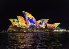Feche acima do teatro da ópera de Sydney Imagens de Stock Royalty Free