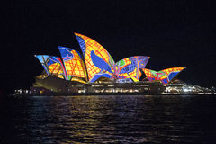 Feche acima do teatro da ópera de Sydney Fotos de Stock