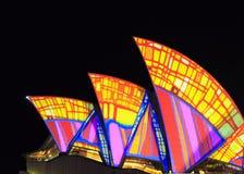 Feche acima do teatro da ópera de Sydney Imagem de Stock