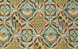 Feche acima da tela do batik do teste padrão Imagens de Stock Royalty Free