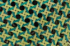 Feche acima do teste padrão octogonal do weave Foto de Stock