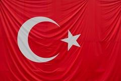 Feche acima do tiro da bandeira turca Imagem de Stock Royalty Free
