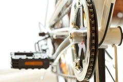 Feche acima do tiro das peças da bicicleta fotografia de stock royalty free
