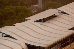 Feche acima do tiro dos respiradouros de ar do stati inferior do metro da construção Foto de Stock Royalty Free