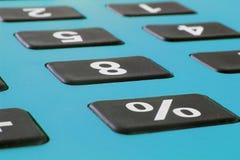Feche acima do tiro macro da calculadora Calculadora das economias Calculadora da finança Economia e conceito home Calculadora do Imagens de Stock