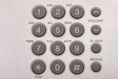 Feche acima do tiro do teclado cinzento do telefone imagens de stock royalty free
