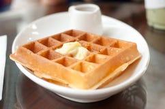 Feche acima do waffle Fotos de Stock