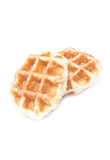 Feche acima do waffle. Foto de Stock Royalty Free