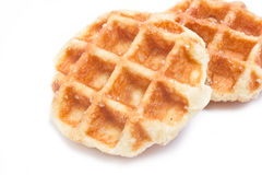 Feche acima do waffle. Foto de Stock