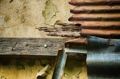 Feche acima do zinco da oxidação uso para o fundo e a textura Imagem de Stock