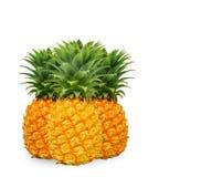 Feche acima dos abacaxis no branco Foto de Stock