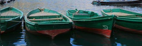 Feche acima dos barcos de madeira Imagens de Stock Royalty Free