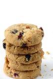Biscoitos brancos do chocolate e da airela Imagens de Stock