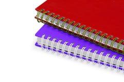 Feche acima dos cadernos do twol Fotografia de Stock