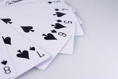 Feche acima dos cartões de jogo Foto de Stock