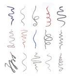 Feche acima dos cursos de um desenho de lápis do cosmético Imagem de Stock Royalty Free