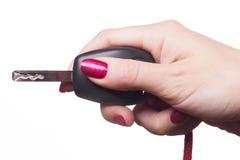 Feche acima dos dedos manicured Imagens de Stock