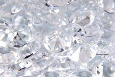 Feche acima dos diamantes Fotografia de Stock Royalty Free