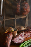 Feche acima dos ingredientes de alimento saborosos Foto de Stock Royalty Free