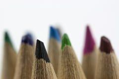 Feche acima dos lápis coloridos Fotografia de Stock