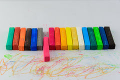 Feche acima dos lápis cor-de-rosa isolados Imagem de Stock Royalty Free