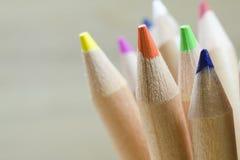 Feche acima dos lápis da cor Fotos de Stock