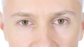 Feche acima dos olhos do homem Fotografia de Stock