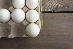 Feche acima dos ovos Fotos de Stock Royalty Free