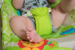 Feche acima dos pés do bebê Fotos de Stock Royalty Free