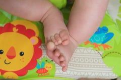Feche acima dos pés do bebê Fotografia de Stock Royalty Free
