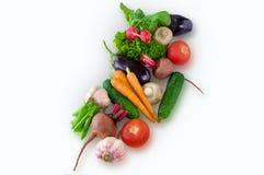 Feche acima dos vários vegetais crus coloridos Imagens de Stock