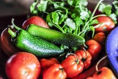 Feche acima dos vegetais sortidos foto de stock royalty free