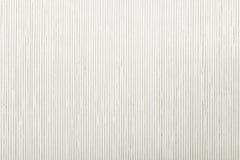 Feche acima a esteira de bambu branca do teste padrão listrado da textura do fundo Fotografia de Stock Royalty Free