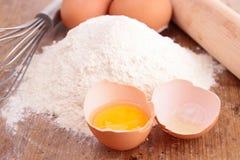 Farinha e ovo imagens de stock