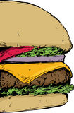 Feche acima no cheeseburger Foto de Stock Royalty Free