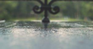 Feche a chuva forte vídeos de arquivo