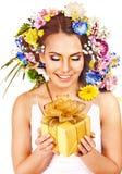 Feche compo acima com a flor. Imagem de Stock Royalty Free