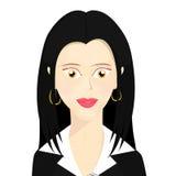Feche em um caráter da mulher de negócio vestido formalmente Fotografia de Stock Royalty Free